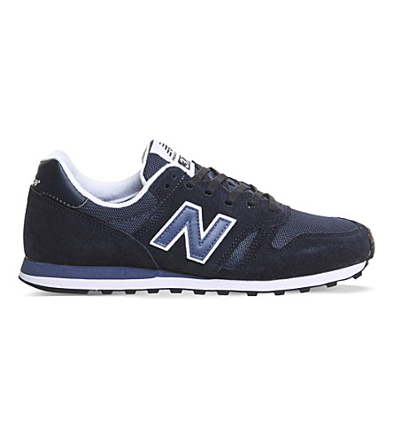 NEW BALANCE MI373 Suede and mesh trainers (Navy blue
