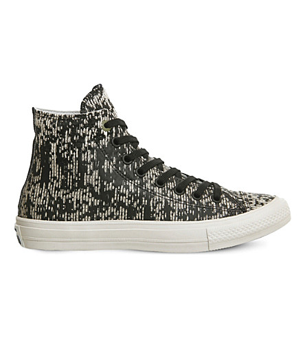 CONVERSE All Star patterned convas trainers (Black translucent