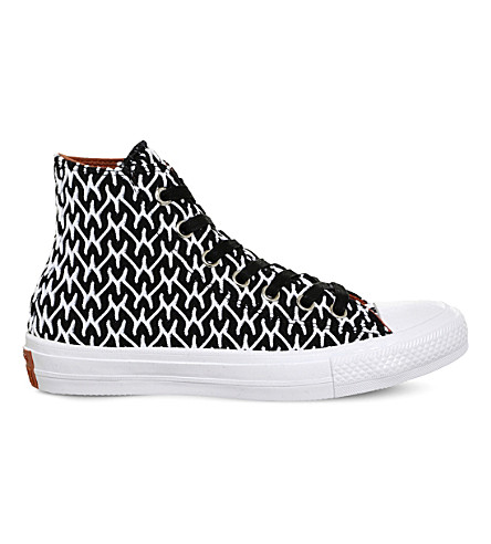 CONVERSE Chuck II patterned woven trainers (Missoni+black+white