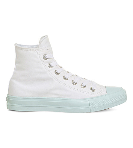 CONVERSE Lunarlon Chuck Taylor All Star II shield canvas high-top sneakers (White+fibreglass