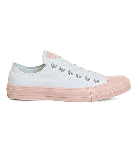 CONVERSE Lunarlon Chuck Taylor All Star II shield canvas low-top trainers (White+vapour+pink