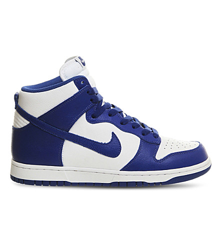 NIKE Dunk high-top leather trainers (White retro qs