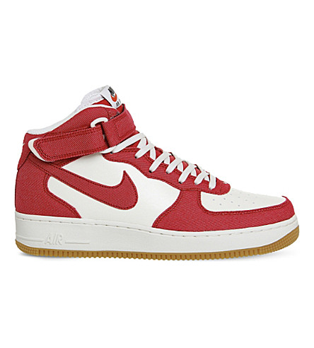 NIKE Air Force 1 leather trainers (Red sail gum
