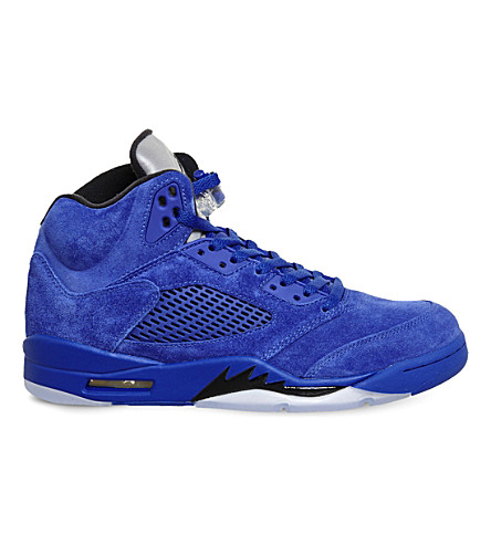 NIKE Air Jordan 5 retro suede trainers (Game+royal