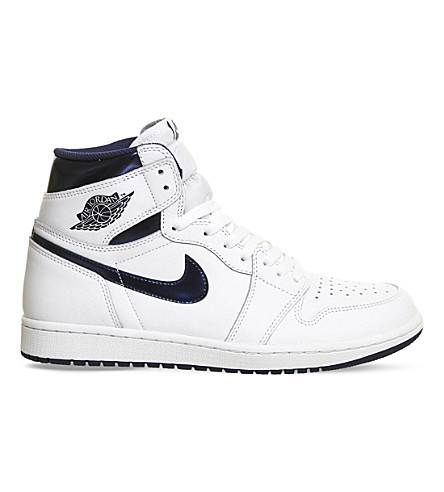 NIKE Air Jordan 1 retro high-top trainers (White midnight navy