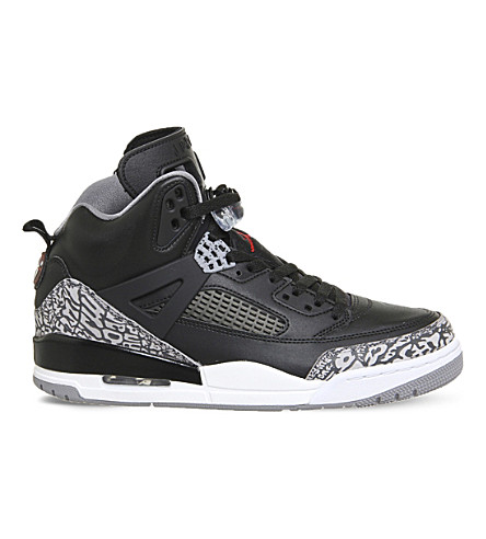 NIKE Spizike leather and mesh trainers (Black+red+cement