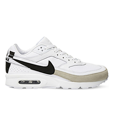 NIKE Air Max BW leather trainers (White black iron ore