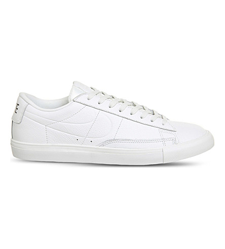 NIKE Blazer low-top leather trainers (Summit+white+gum