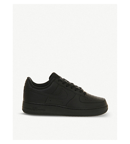 NIKE Air Force 1 leather trainers (Black
