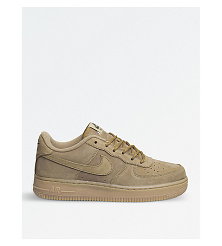 NIKE Air Force 1 leather trainers (Flax+gum+light+brown