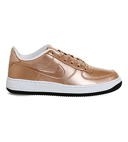 NIKE Air Force 1 leather trainers (Metallic rose gold