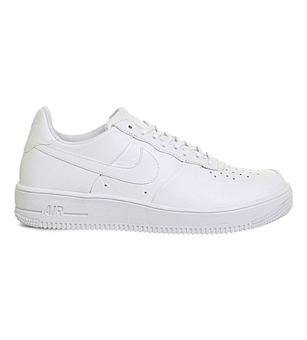NIKE Air Force 1 Ultra leather trainers (White+white