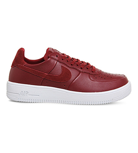 NIKE Air force 1 ultra force leather trainers (Team+red+white