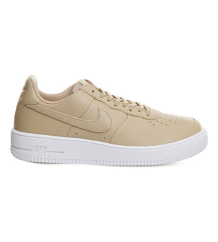 NIKE Air Force 1 Ultra leather trainers (Linen+white