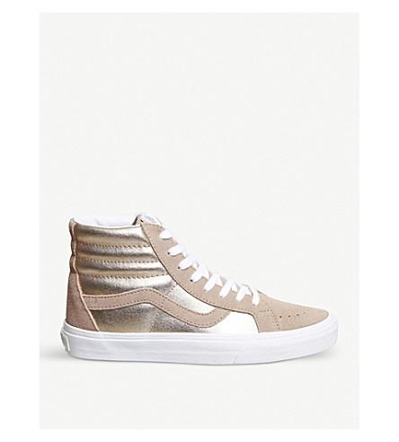 VANS Sk8 麂皮绒和金属高运动鞋 (红木 + 玫瑰 + 白