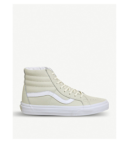 VANS SK8 Hi leather trainers (Turteldove+white