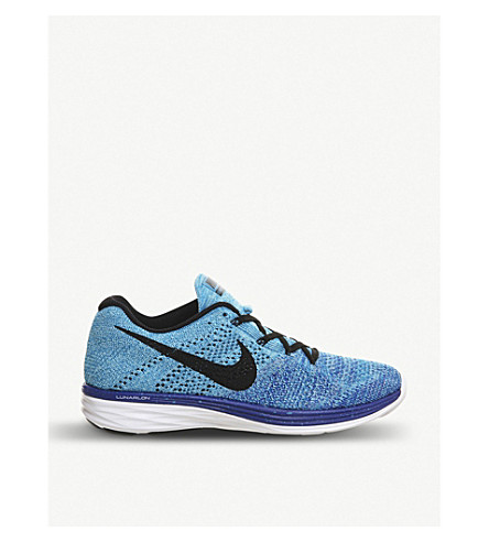NIKE Flyknit Lunar 3 trainers (Game royal black