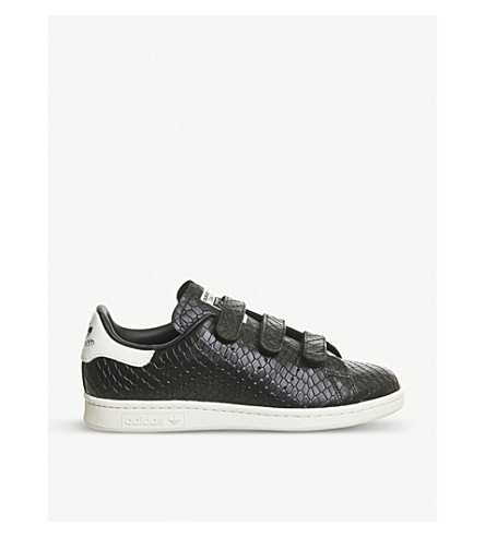 adidas stan smith cf crocodile embossed leather trainers. Black Bedroom Furniture Sets. Home Design Ideas