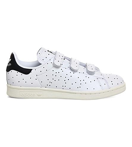 ADIDAS Stan Smith CF polka dot leather trainers (Black polka dot
