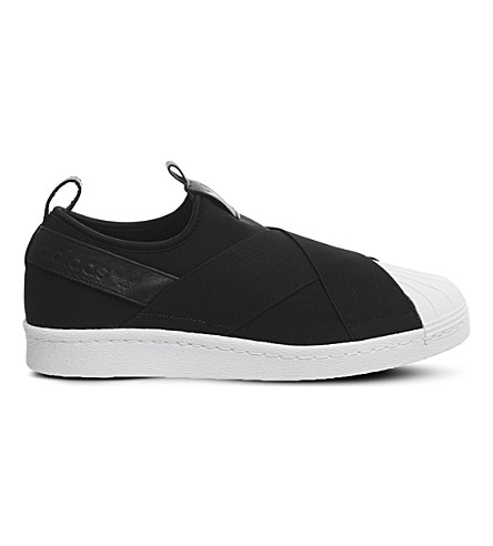 ADIDAS Superstar slip-on trainers (Black+white