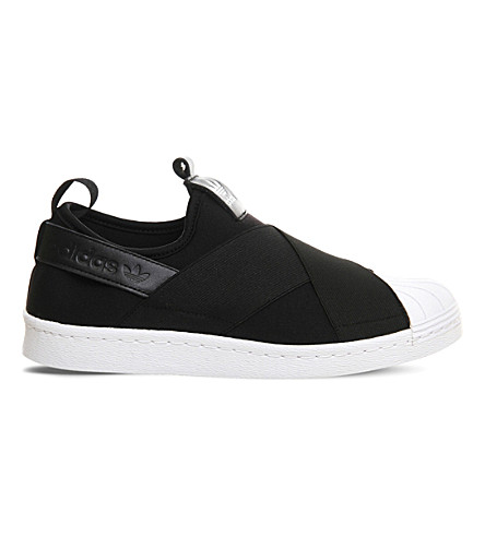 ADIDAS Superstar slip-on trainers (Core+black+white