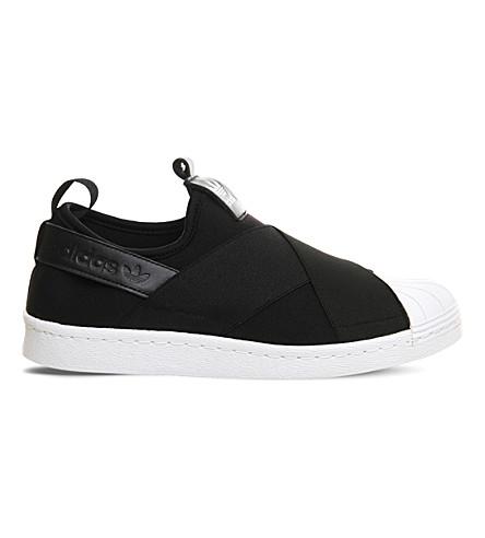 ADIDAS Superstar slip-on sneakers (Core+black+white