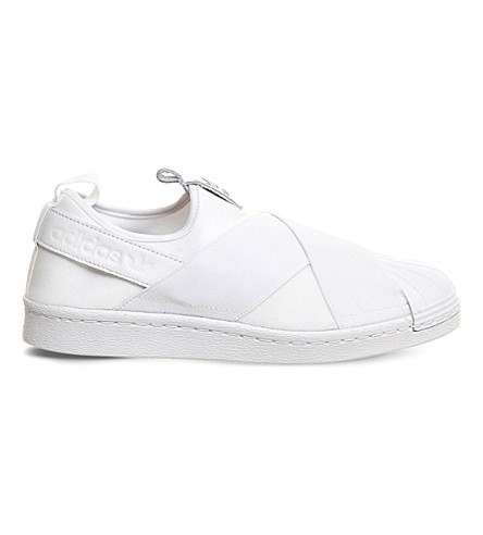 ADIDAS Superstar slip-on trainers (White+mono