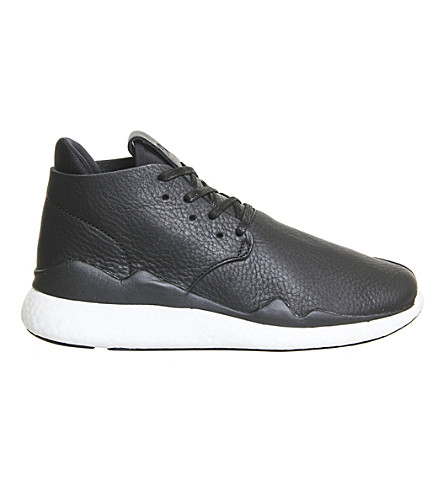 ADIDAS Y3 Y3 leather desert boots (Black+white