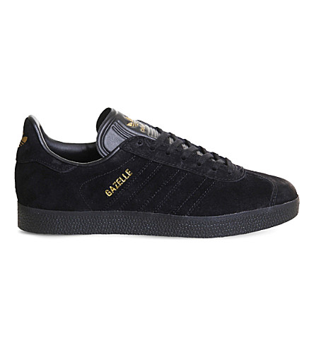 ADIDAS Gazelle low-top suede trainers (Black+gold