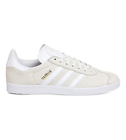 ADIDAS Gazelle leather trainers (Off+white