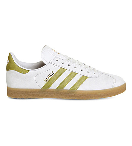 ADIDAS Gazelle leather trainers (Vintage white gold