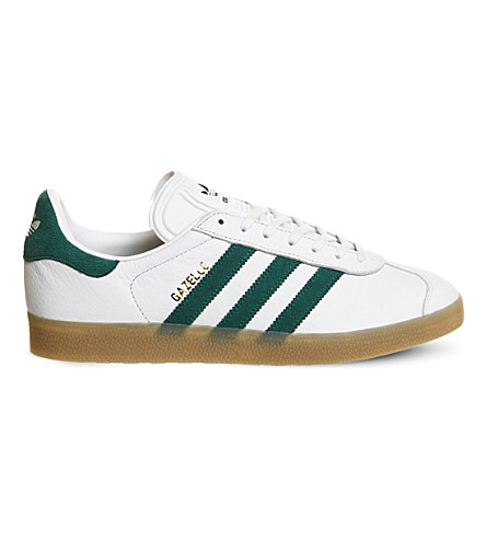 ADIDAS Gazelle lace-up leather trainers (Vintage white gum