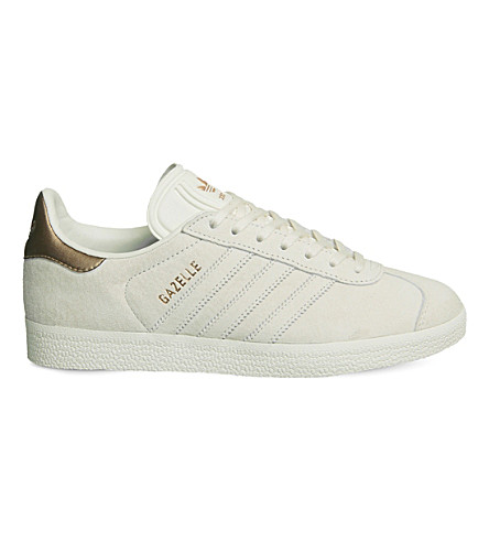 ADIDAS Gazelle low-top suede trainers (Chalk+white+copper