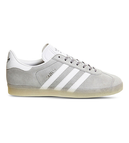 ADIDAS Gazelle suede trainers (Mid grey white ice