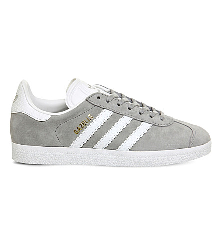 ADIDAS Gazelle suede trainers (Mid+grey+white