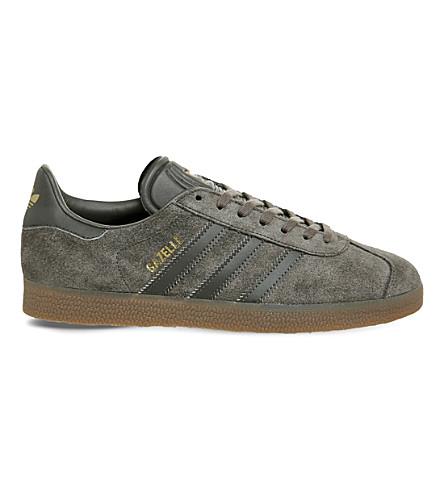 ADIDAS Gazelle suede trainers (Utility+grey+gum