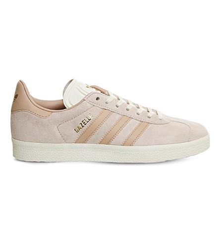 ADIDAS Gazelle low-top suede trainers (Linen+dust+pearl