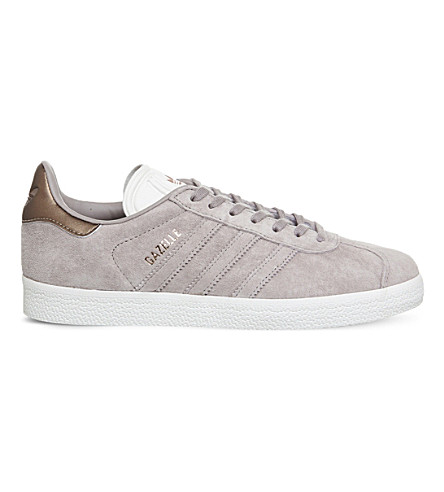 ADIDAS Gazelle low-top suede trainers (Vapour+grey+white