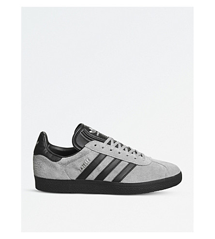 ADIDAS Gazelle low-top suede trainers (Grey+black