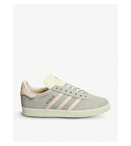 ADIDAS Gazelle suede trainers (Grey+two+icey+pink