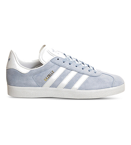 ADIDAS Gazelle lace-up suede trainers (Sky white gold met