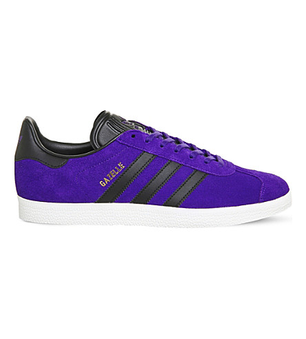 ADIDAS Gazelle low-top suede trainers (Energy+ink+black