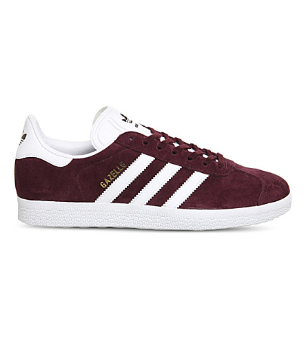 ADIDAS Gazelle low-top suede trainers (Burgundy+white+gold