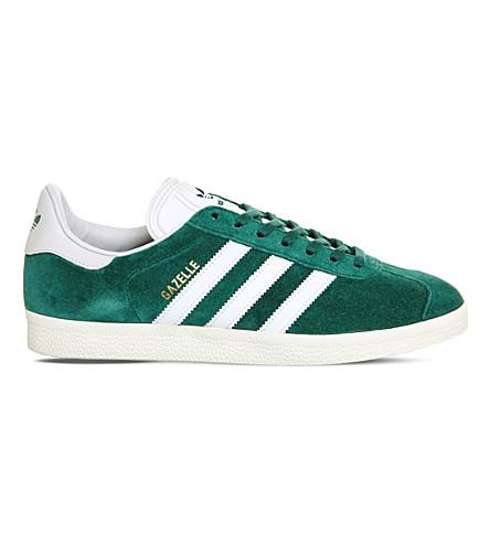 ADIDAS Gazelle leather trainers (Green vintage white