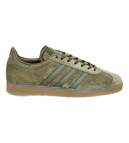 ADIDAS Gazelle suede trainers (Olive cargo gum