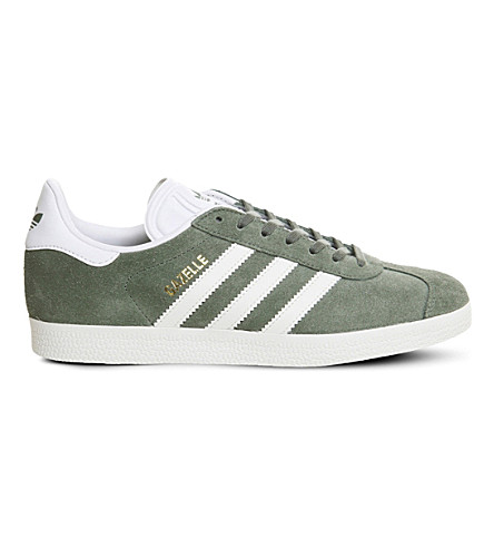 ADIDAS Gazelle suede trainers (Trace+green+white