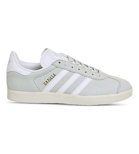ADIDAS Gazelle low-top suede trainers (Linen+green+white