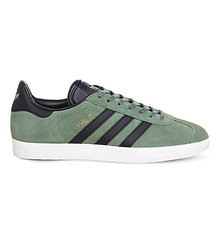 ADIDAS Gazelle low-top suede trainers (Trace+green+black
