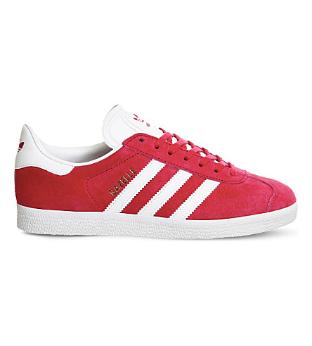ADIDAS Gazelle lace-up suede trainers (Pink white gold
