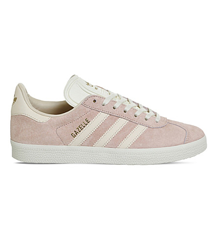 ADIDAS Gazelle low-top suede sneakers (Vapour+pink+linen